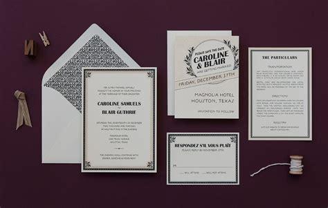 1920s Wedding Invitations 1920s invitation marquee deco weddings