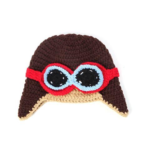 Handmade Props - handmade crochet winter baby aviator hat newborn