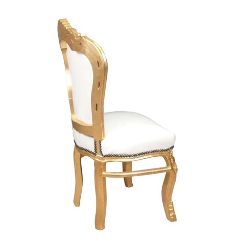 White And Gold Chair by Baroque Chair White And Gold Bronze Statues