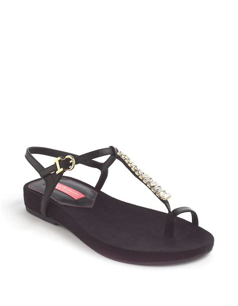 isaac mizrahi sandals isaac mizrahi new york twist embellished leather sandals