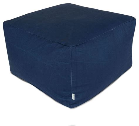 Navy Blue Ottoman Outdoor Navy Blue Solid Large Ottoman Contemporary Footstools And Ottomans By Majestic