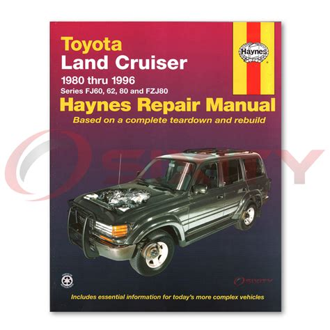 haynes toyota land cruiser 1980 1996 auto repair manual haynes toyota land cruiser fj60 62 80 fzj80 80 96 repair manual 92056 shop wz ebay