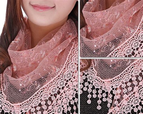 home design group spólka cywilna lace triangle scarf shawl wholesale ladies triangle tassel