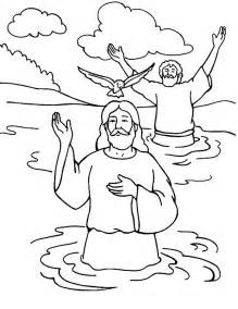 holy spirit coloring page pics photos jesus baptism cartoon pictures