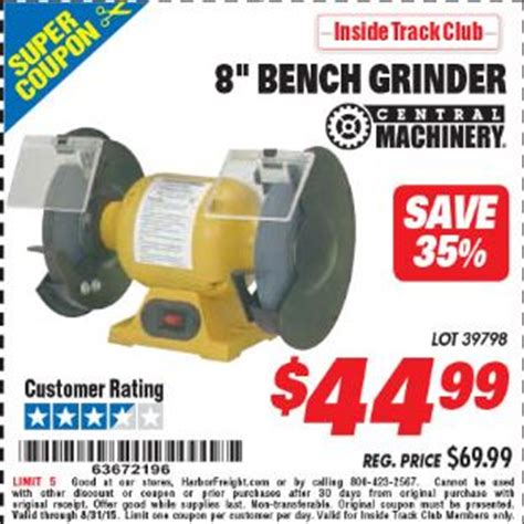 bench grinder harbor freight harbor freight tools coupon database free coupons 25