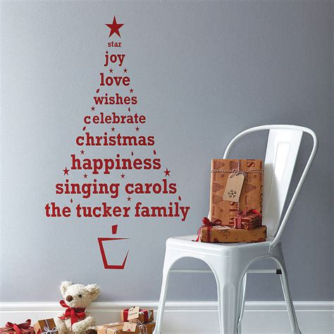 decorating a tree sayings personalised tree wall sticker by spin collective notonthehighstreet