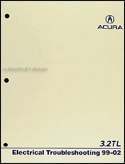 1996 acura 3 2 tl electrical troubleshooting manual 1999 2002 acura 3 2 tl electrical troubleshooting manual original