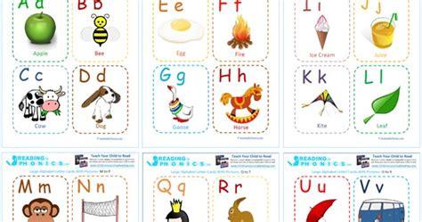 Kartu Belajar Bahasa Inggris kartu baca abjad dengan gambar menarik untuk anak sambil