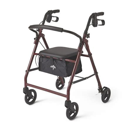 folding rollator walker with seat 4 wheel rolling folding walker rollator with padded seat
