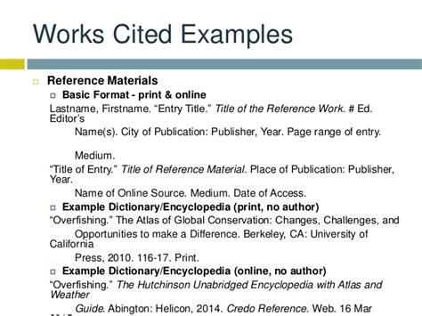 reference book materials mla citations