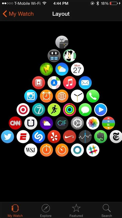 iphone change layout of icons how to change the layout of apps on your apple watch 171 ios