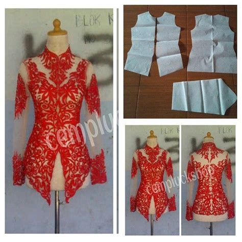Kebaya Brokat Kutubaru Mix Tile by Kebaya Outer Pattern Order Via Line Modelliste With