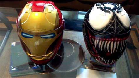 Motorrad Helm Iro by Custom Airbrushed Icon Ironman And Venom Helmet