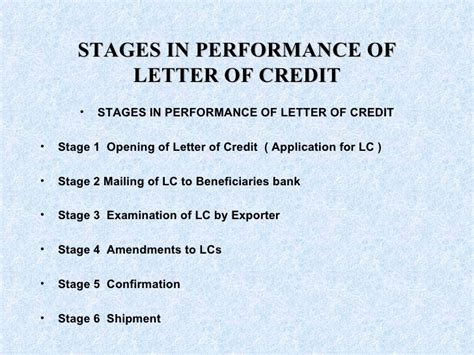 Letter Of Credit And Types Letter Of Credit