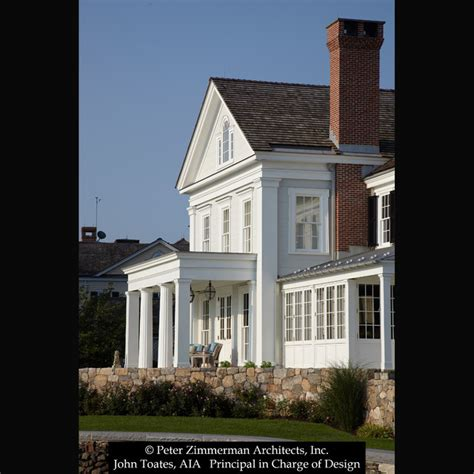 Greek Revival Home Traditional Exterior New York   new greek revival house southport ct traditional