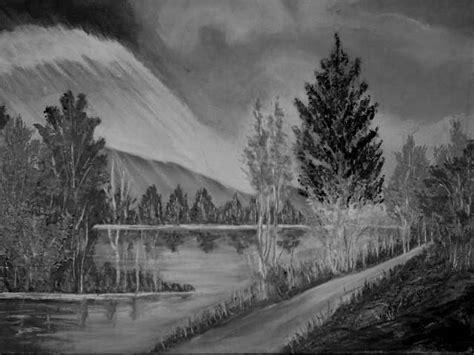 imagenes en blanco y negro de un paisaje dibujos de paisajes en blanco y negro imagui