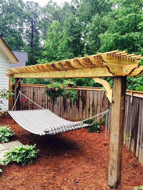 beautiful hammock stand backyard ideas pinterest
