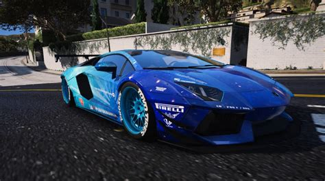 blue galaxy lamborghini liberty walk blue galaxy for lamborghini aventador gta5