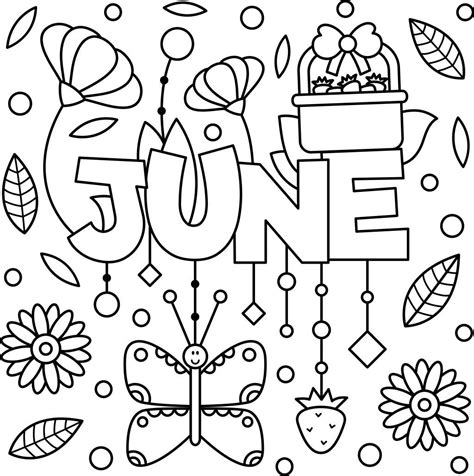 june color cheery june coloring page printable thrifty mommas tips