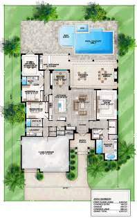 florida house plans with pool coastal florida mediterranean house plan 75965 house