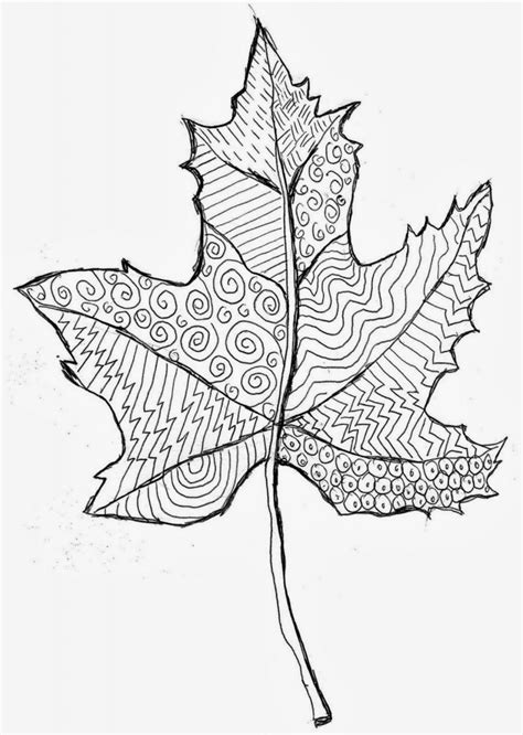 leaves pattern sketch zentangle leaves art projects for kids