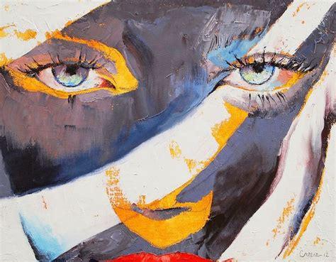 pinturas al oleo de rostros cuadros de abstractos con rostros femeninos pintados al