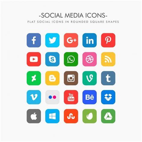 imagenes libres redes iconos de redes sociales en vector png o psd recursos