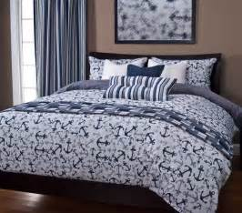 anchors away blue nautical bedding