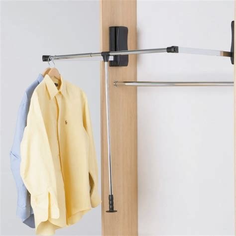 Hafele Pull Wardrobe Rail by Hafele Pull Wardrobe Rails Black With Black Lift