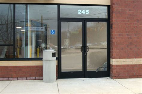 Commercial Exterior Door Cross Aluminum Commercial Entry Doors