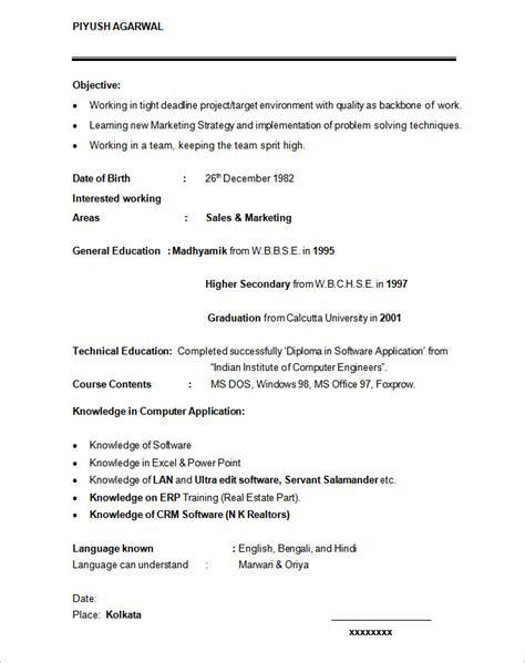 resume template marketing student resume template 21 free sles exles