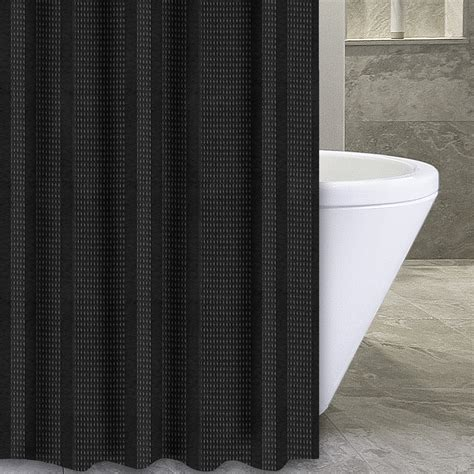 black and ivory striped curtains popular bath products waffle stripe 72 quot x 84 quot shower