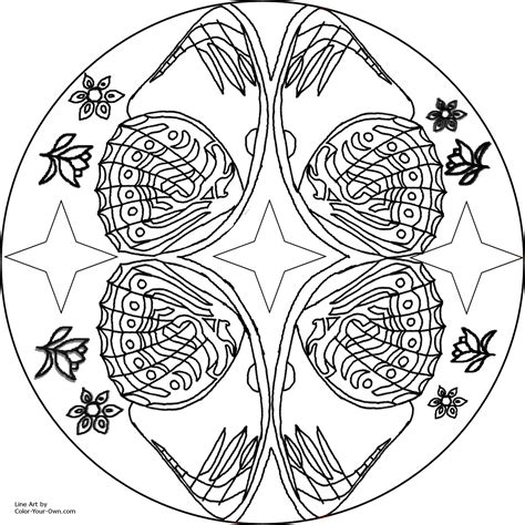 butterfly mandala coloring pages printable butterfly wing mandala coloring page