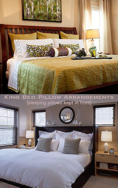 how to arrange pillows on king bed best 25 pillow arrangement ideas on pinterest bed