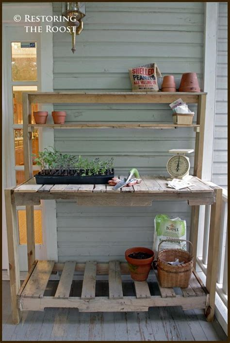make a potting bench diy pallet potting bench plan pallets designs