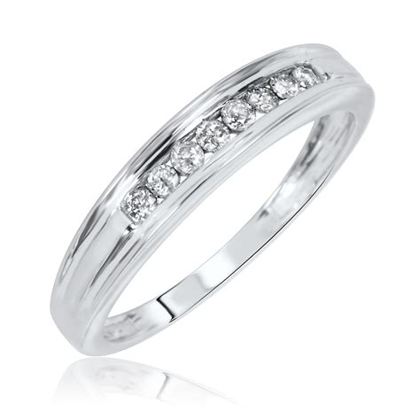 1 7 ct t w wedding band 10k white gold