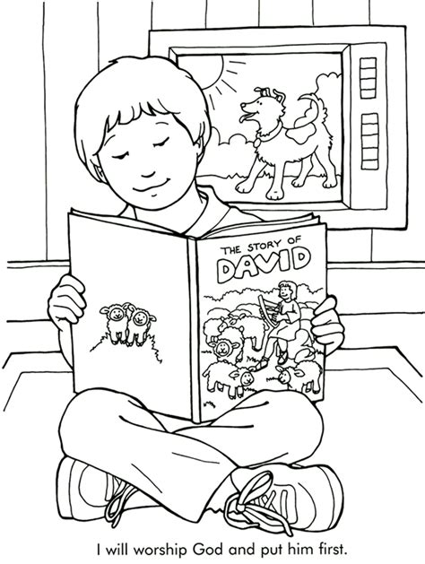 the story of david coloring page
