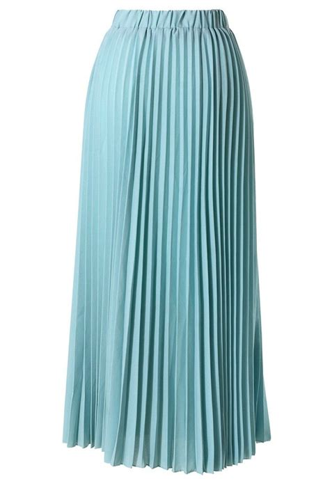 Pleated Chiffon Skirt chiffon seafoam pleated maxi skirt products i