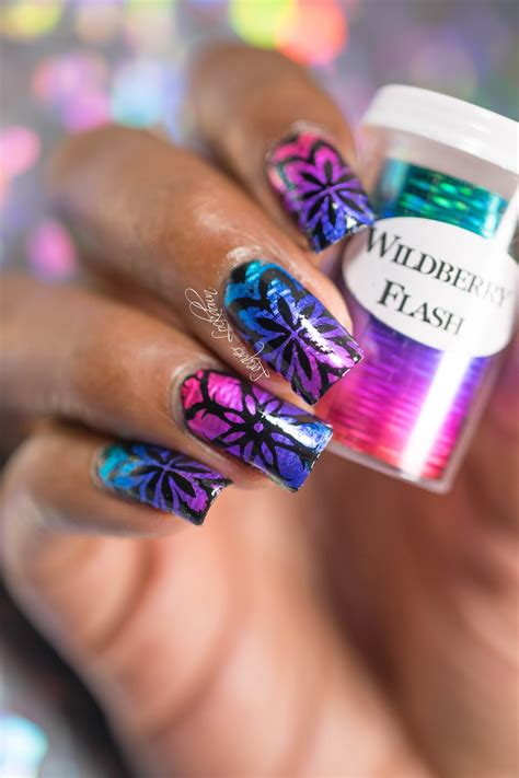 Nail Foil by Lacquer Lockdown Kaleidoscope Linear Foil Nail Tutorial