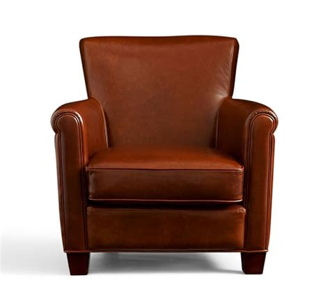Irving Leather Armchair by Irving Leather Armchair Pottery Barn