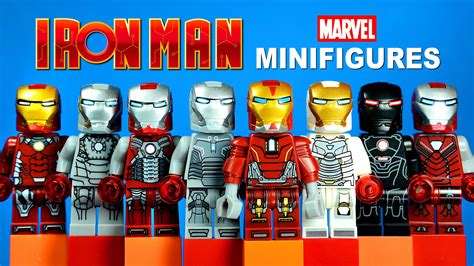 lego iron man suits armor knockoff minifigures set