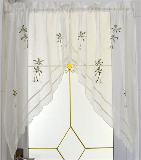 white short curtains buy strawberry embroidered decorative curtains short