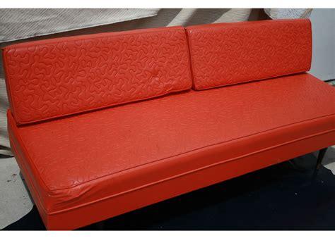 tangerine sofa vintage leather sofa tangerine oragne day bed on antique