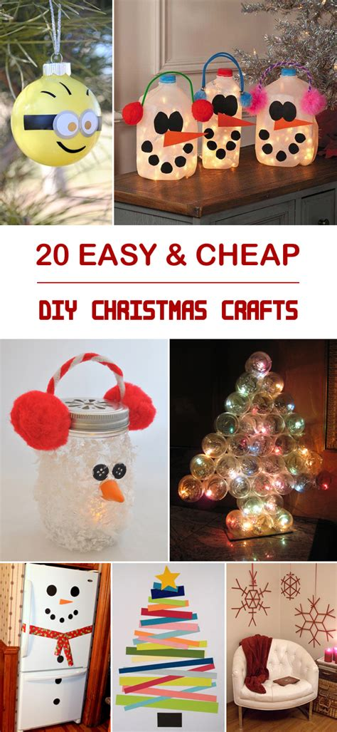 20 easy cheap diy christmas crafts
