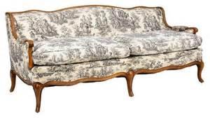 toile de jouy provincial style sofa transitional