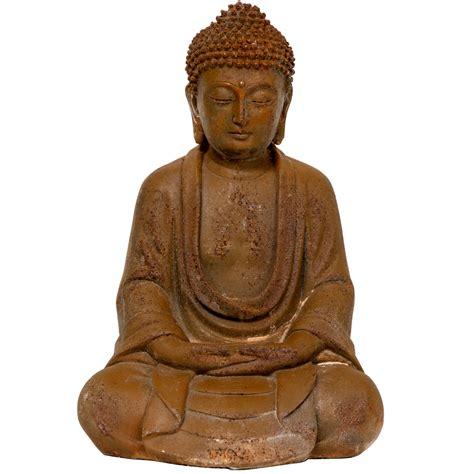 buy  japanese sitting zenjo  rust patina buddha statue