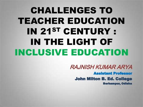 challenges in teaching challenges to education in 21st century in the