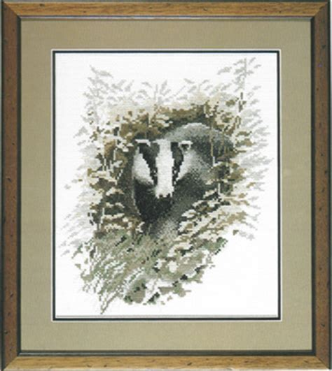badger pattern works badger cross stitch pattern by john stubbs