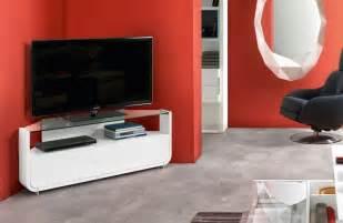 meuble tv d angle blanc meuble d angle tv de style contemporain et moderne