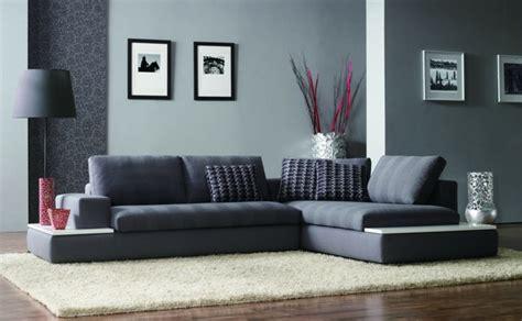 grey material sofa